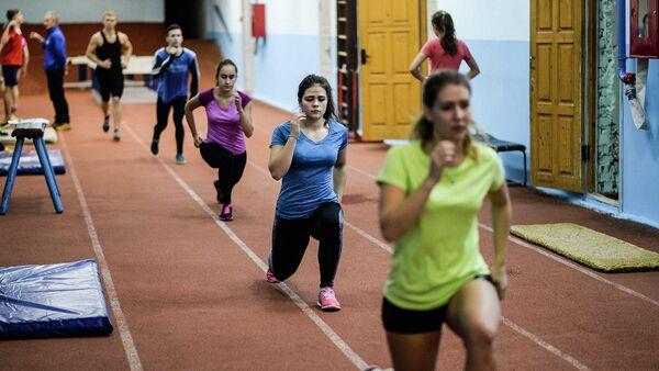 Занятия лёгкой атлетикой