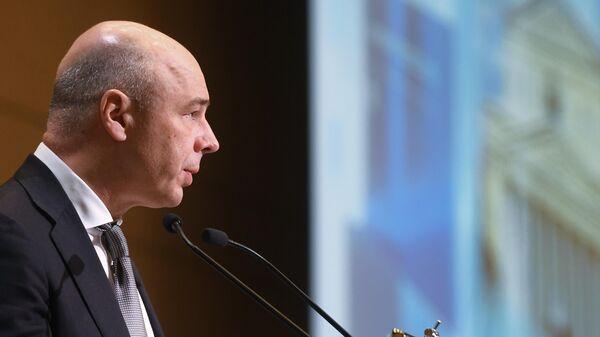 Министр финансов РФ Антон Силуанов выступает во время 81-го заседания Экономического совета СНГ в Москве. 15 марта 2019