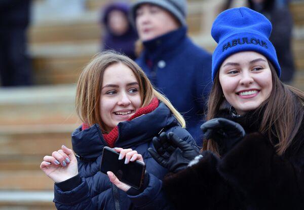 Зрители на Koktebel Jazz Party фестиваля Крымская весна в Большом Амфитеатре парка Зарядье