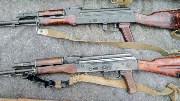 Оружейный тайник в Донбассе