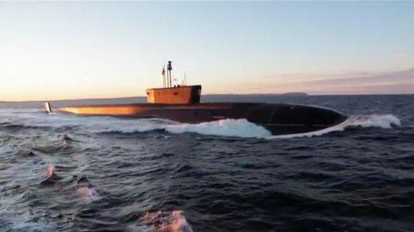 Испытания подводного ракетоносца типа Борей