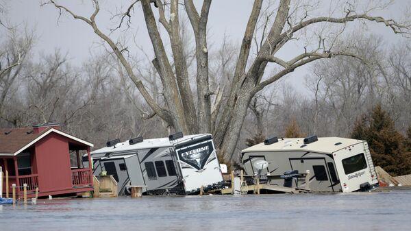 Последствия наводнения в штате Небраска, США
