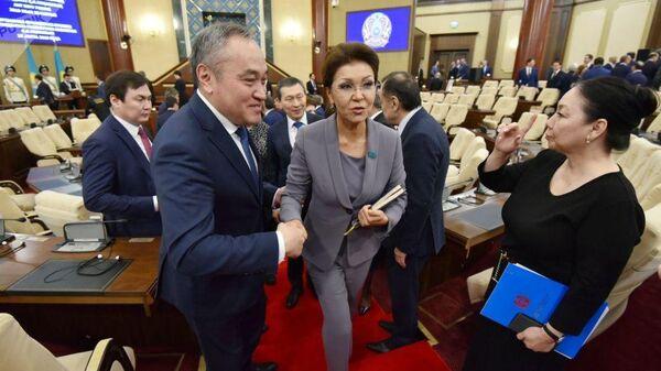 Дарига Назарбаева на заседании сената парламента Казахстана. 20 марта 2019