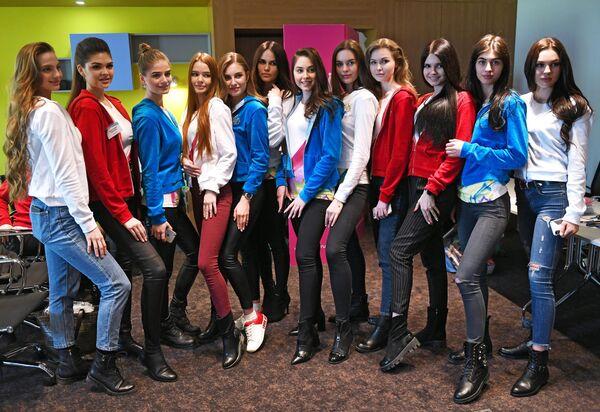 Участницы конкурса Мисс Россия в Москве