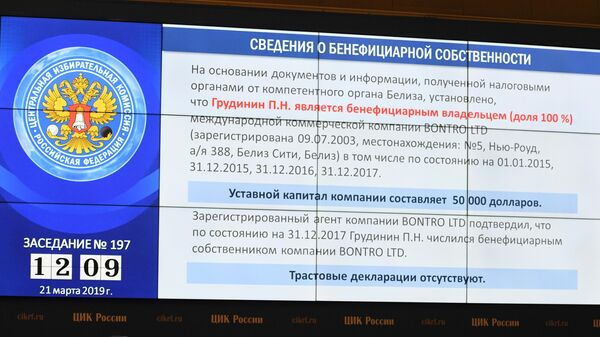 Центризбирком рассматривает вопрос о передаче вакантного мандата депутата Государственной Думы РФ Павлу Грудинину