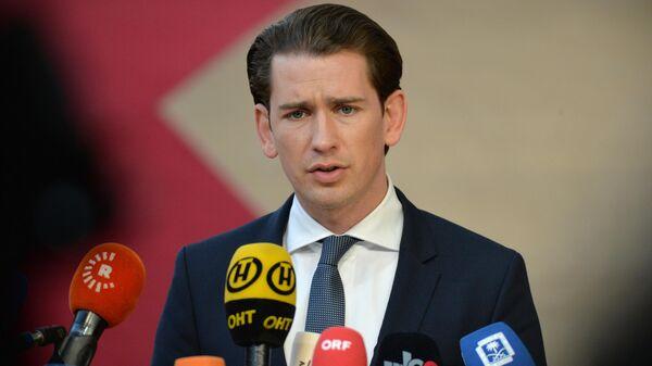 Канцлер Австрии Себастьян Курц на саммите глав государств и правительств Евросоюза в Брюсселе