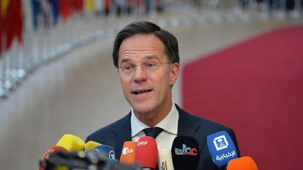 Премьер-министр Нидерландов Марк Рютте на саммите глав государств и правительств Евросоюза в Брюсселе