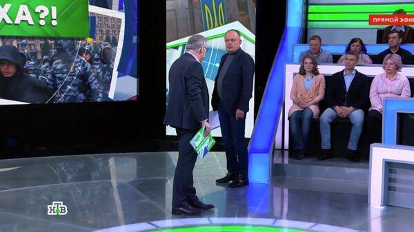 Норкин скрестным знамением выгнал украинского политолога изстудии