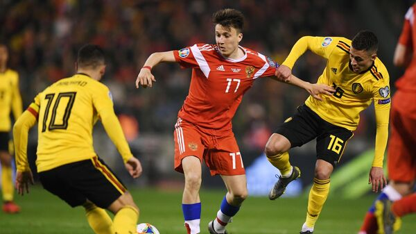 Футбол. Отборочный матч ЧЕ-2020. Матч Бельгия - Россия