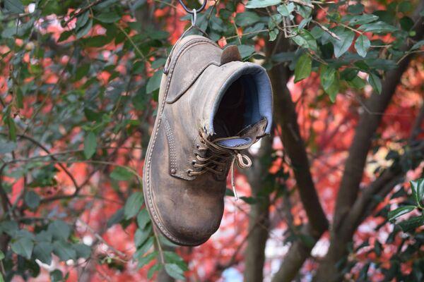 Скворечник-ботинок