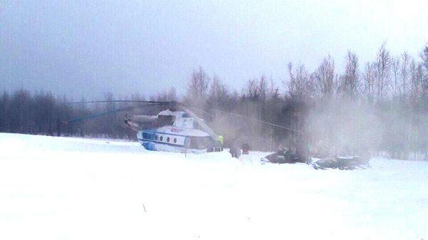 Жесткая посадка вертолета МИ-8 в поселке Нори Ямало-Ненецкого автономного округа. 22 марта 2019