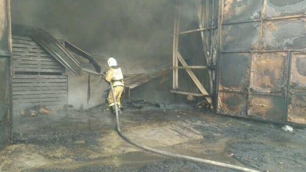 Пожар в овощехранилище в Липецкой области