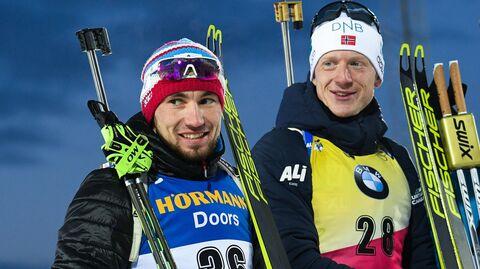 Александр Логинов, Йоханнес Бё и Кентен Фийон Майе (слева направо)