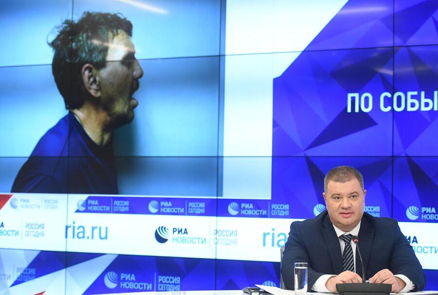 Подполковник Службы безопасности Украины Василий Прозоров на пресс-конференции в МИА Россия сегодня