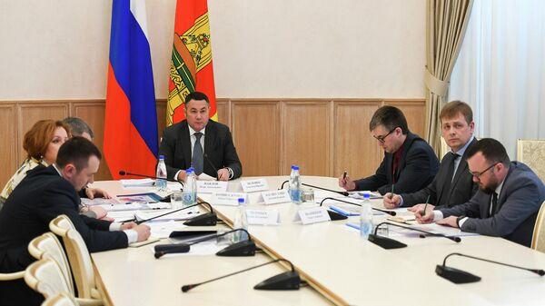 Губернатор Тверской области Игорь Руденя на совещании, посвященном проекту региональных стандартов содержания дорог