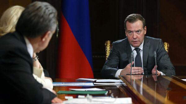 Председатель правительства РФ Дмитрий Медведев проводит совещание с вице-премьерами РФ. 25 марта 2019