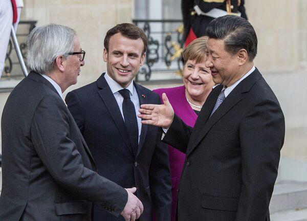 Встреча лидеров стран ЕС и председателя КНР Си Цзиньпина  в Париже. 26 марта 2019