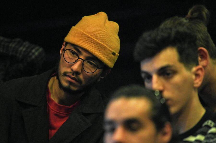 Студенты на режиссерской конференции