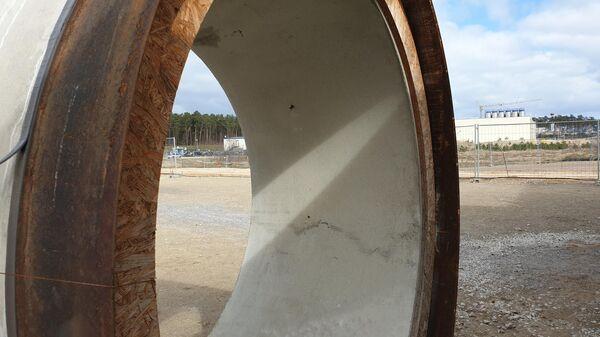 Строительство газопровода Nord Stream - 2 в немецком Любмине