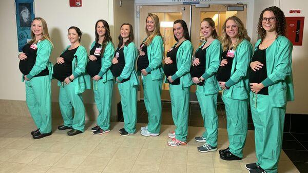 Медсестры родильного отделения больницы в Портленде, США