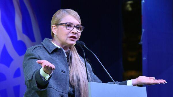 Кандидат в президенты Украины Юлия Тимошенко