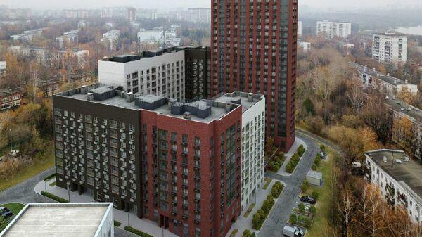 Проект дома, который планируется построить по программе реновации жилья Москвы по адресу: Каспийская улица, 28/4