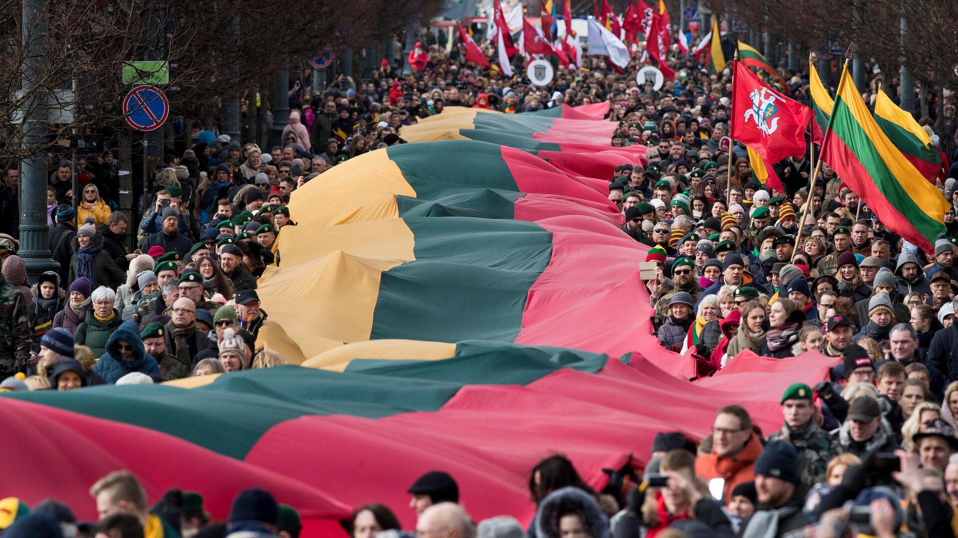 Празднование дня независимости Литвы в Вильнюсе - РИА Новости, 1920, 06.09.2020