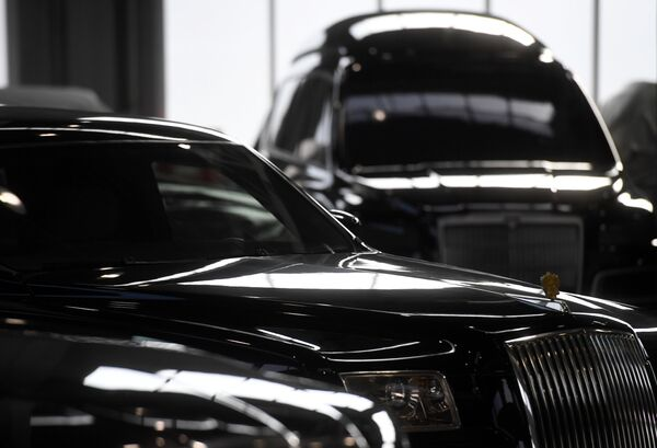 Автомобили Aurus в Государственном научном центре РФ ФГУП НАМИ в рамках проекта Открой#Моспром в Москве