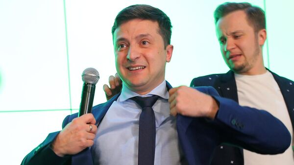 Кандидат в президенты Украины, актер Владимир Зеленский
