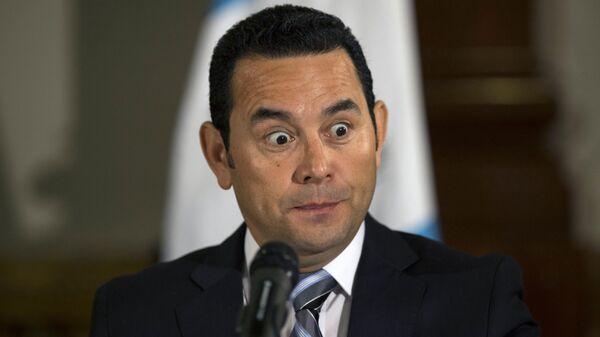 Президент Гватемалы Джимми Моралес. Архивное фото