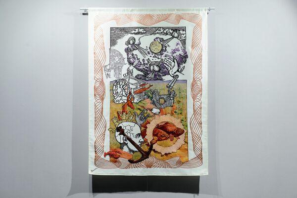 Выставка Людмилы Барониной Чтобы нарисовать гору, возьми камень
