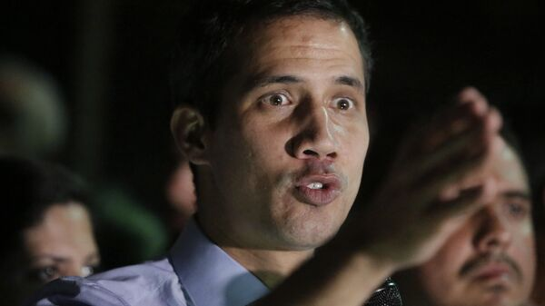 Лидер оппозиции Хуан Гуаидо в Каракасе