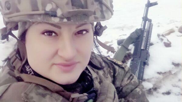 Военнослужащая ВСУ Яна Червоная