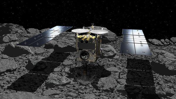"""Японский зонд сегодня ночью сбросит """"взрывпакет"""" на астероид"""