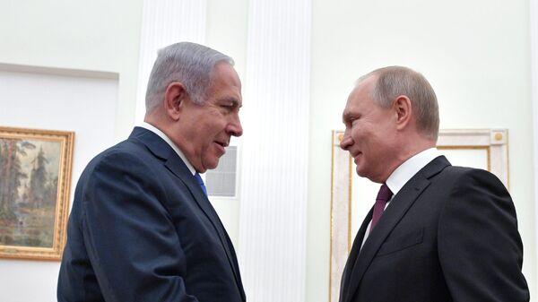 Президент РФ Владимир Путин и премьер-министр Израиля Биньямин Нетаньяху во время встречи. 4 апреля 2019