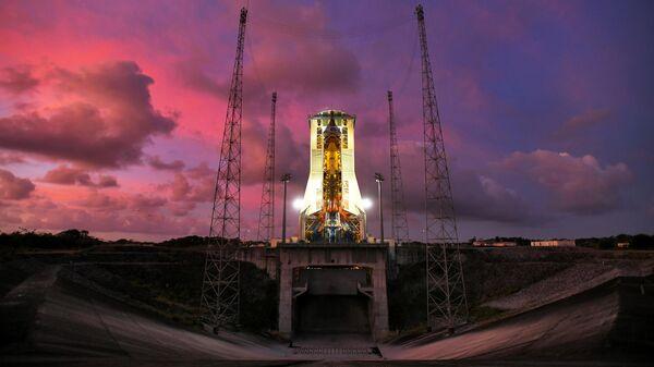 Подготовка к старту РН Союз-СТ с космодрома Куру