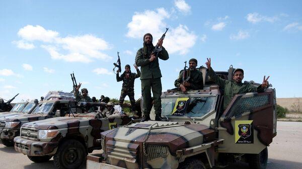 Военнослужащие Ливийской национальной армии маршала Халифы Хафтара в Бенгази, Ливия. 7 апреля 2019