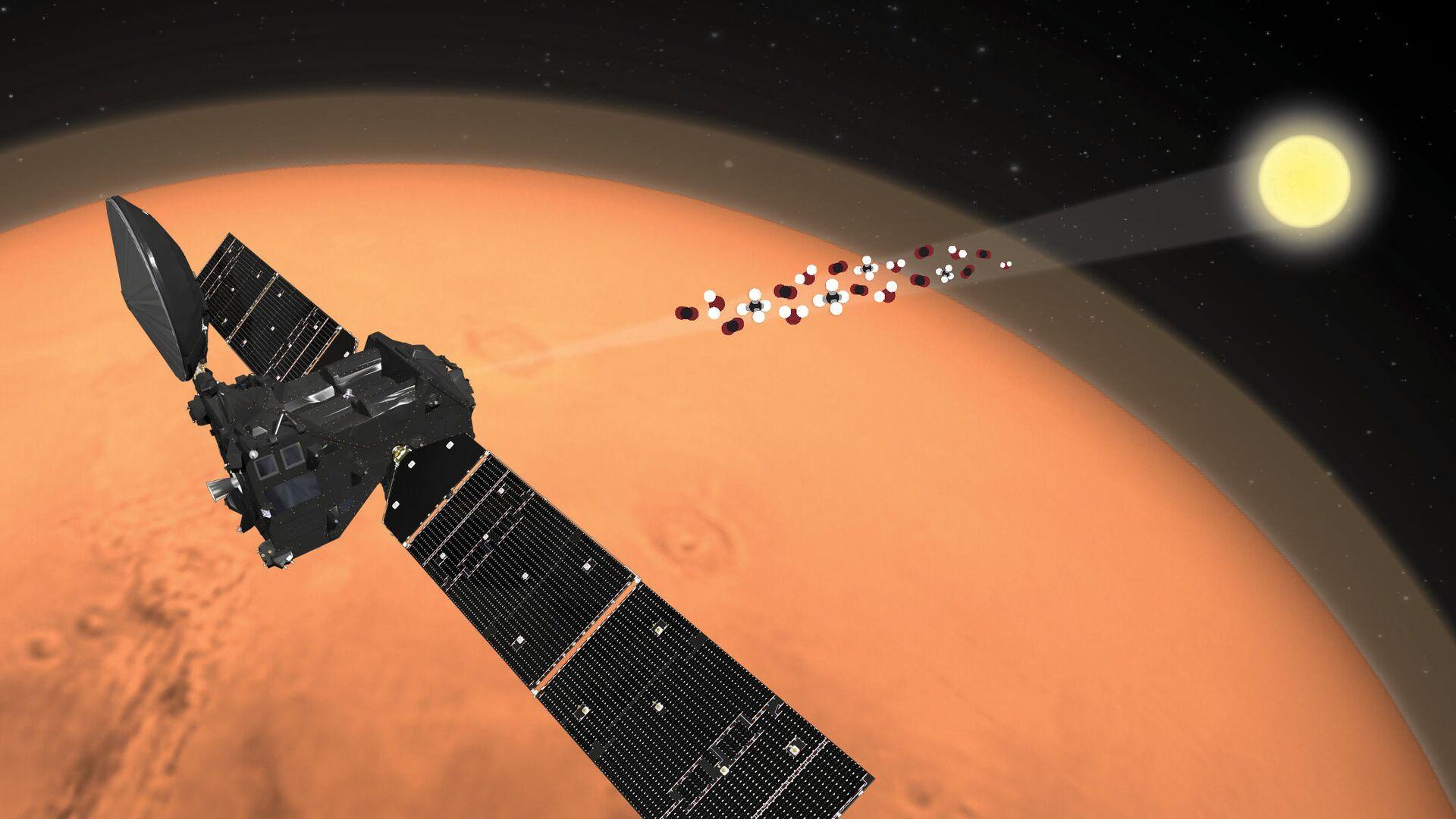 Зонд ЭкзоМарс-TGO измеряет спектр молекул атмосферы Марса - РИА Новости, 1920, 18.09.2020
