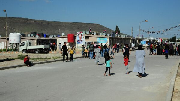 Лагерь беженцев на юге Дамаска