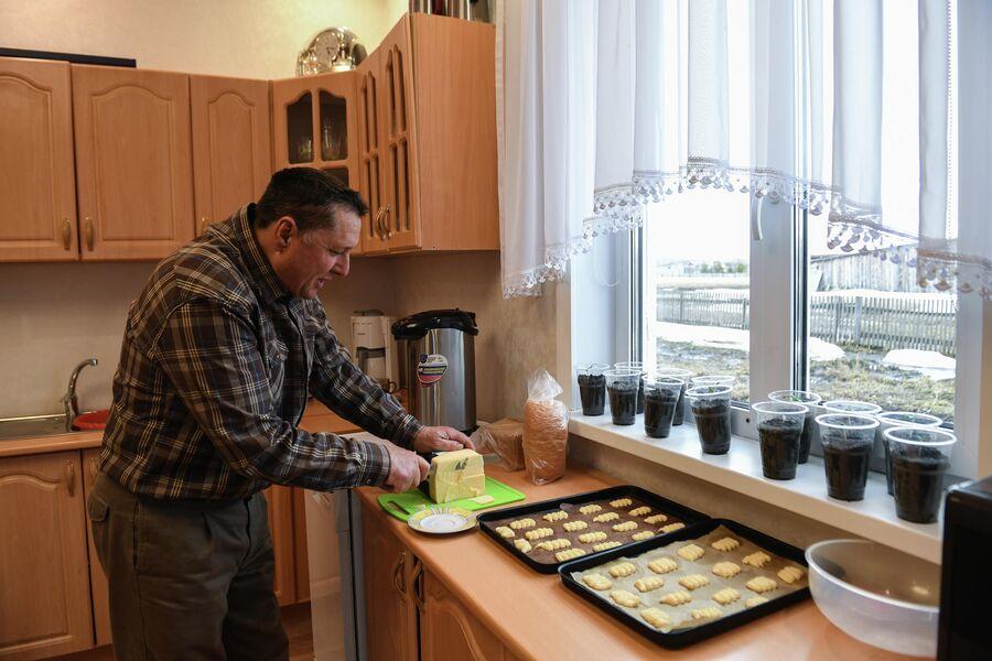 Андрей Паульс на кухне