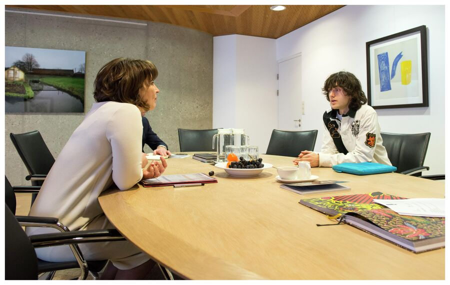Боян Слат с министром внешней торговли и развития сотрудничества Нидерландов