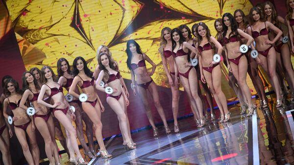 Участницы во время выступления в финале конкурса Мисс Россия 2019
