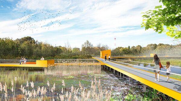Проект парка на берегу Москвы-реки в Капотне
