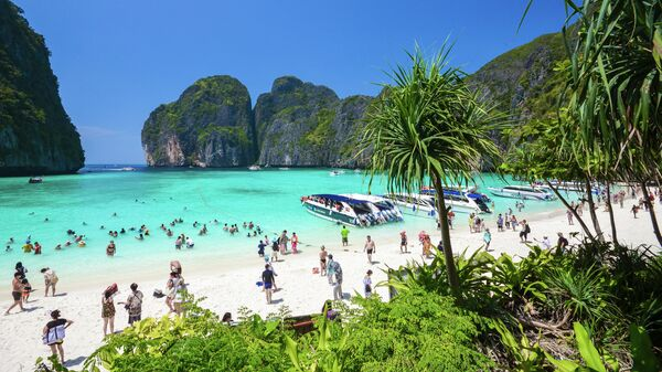 Пляж Майя Бэй в Таиланде. 2017 год