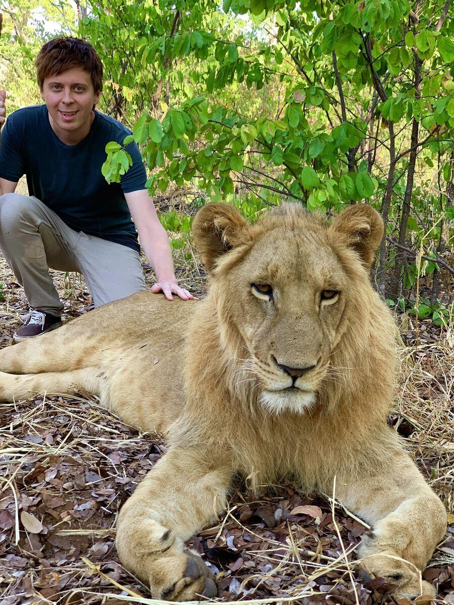 В гостях у уникального проекта по спасению львов, Север Зимбабве
