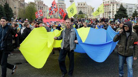 Сторонники президента Украины Петра Порошенко в Киеве. 19 апреля 2019