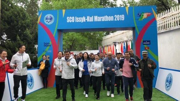 Презентация серии марафонов ШОС в Пекине, КНР. 20 апреля 2019