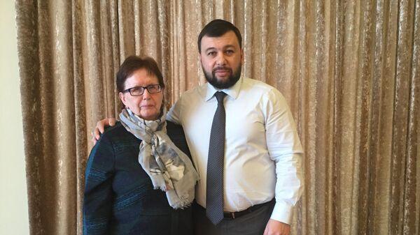 Глава ДНР Денис Пушилин встретился с матерью Андрея Стенина