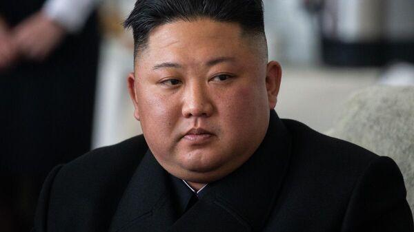 Лидер КНДР Ким Чен Ын во время визита в Россию