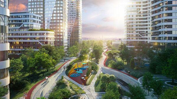 Проект парка в ЖК Символ в Москве